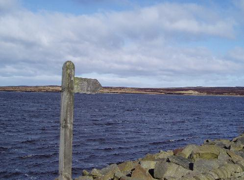 The junction at White Holme reservoir