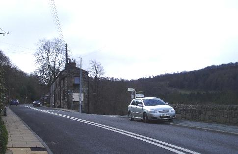 The turn off from the main Cragg Road